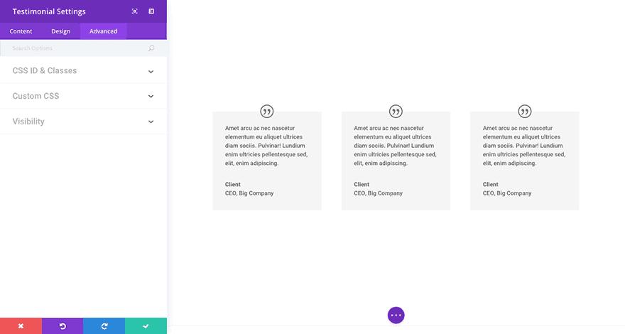 Модуль отзывов Divi